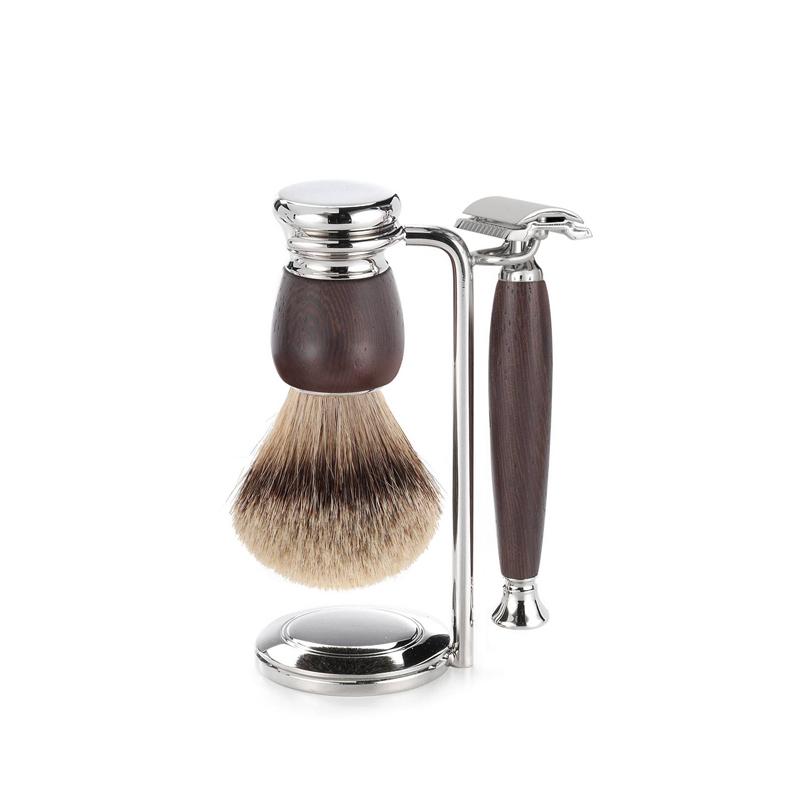Набор бритвенный Mondial ST-550-WST1, венге бритвенный набор mondial станок помазок чаша подставка оливковое дерево 1281852