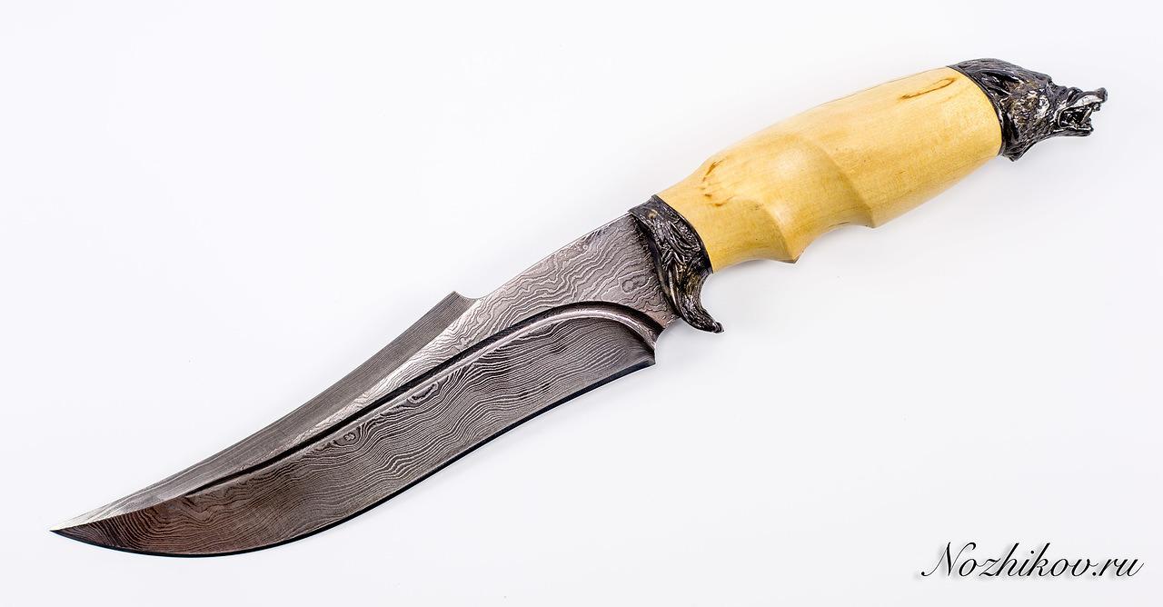 Фото 2 - Авторский Нож из Дамаска №45, Кизляр от Noname
