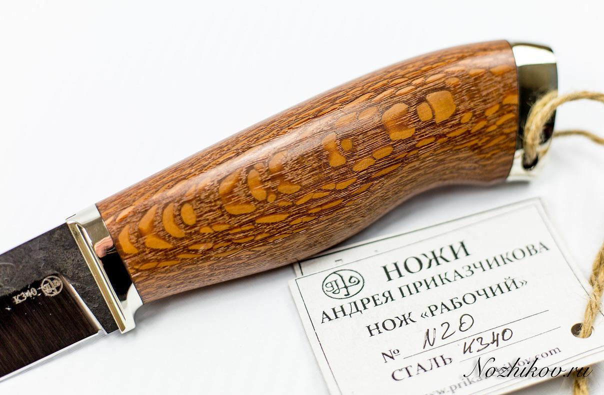 Фото 4 - Нож Рабочий №20 из кованой стали Bohler K340
