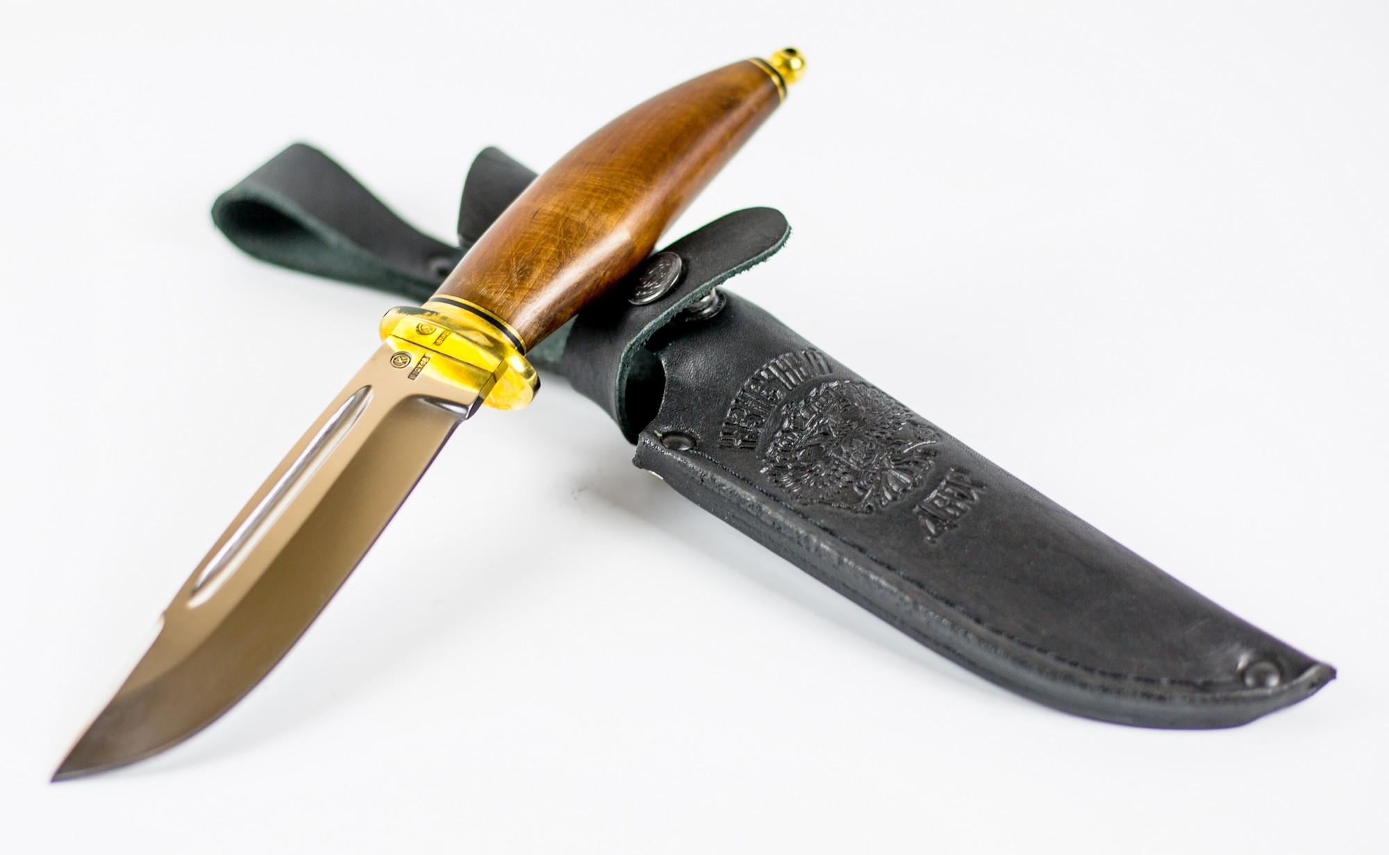 Нож Лесник, сталь 110х18 нож танто 110х18 с деревянными ножнами