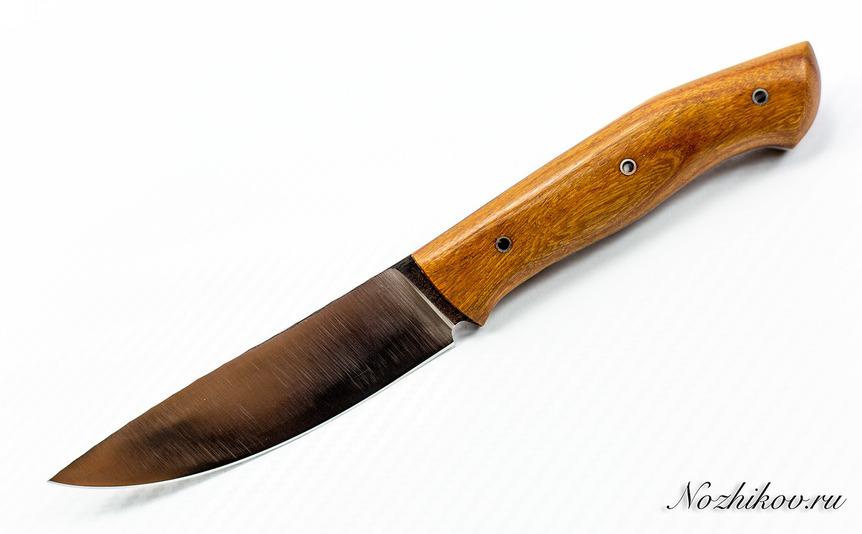 Нож Крейсер 5, К340Авторские и подарочные ножи<br>Спуски прямые от обуха на 0.3; сатин; обух битый камень; штифты нержа; рукоять орех.<br>
