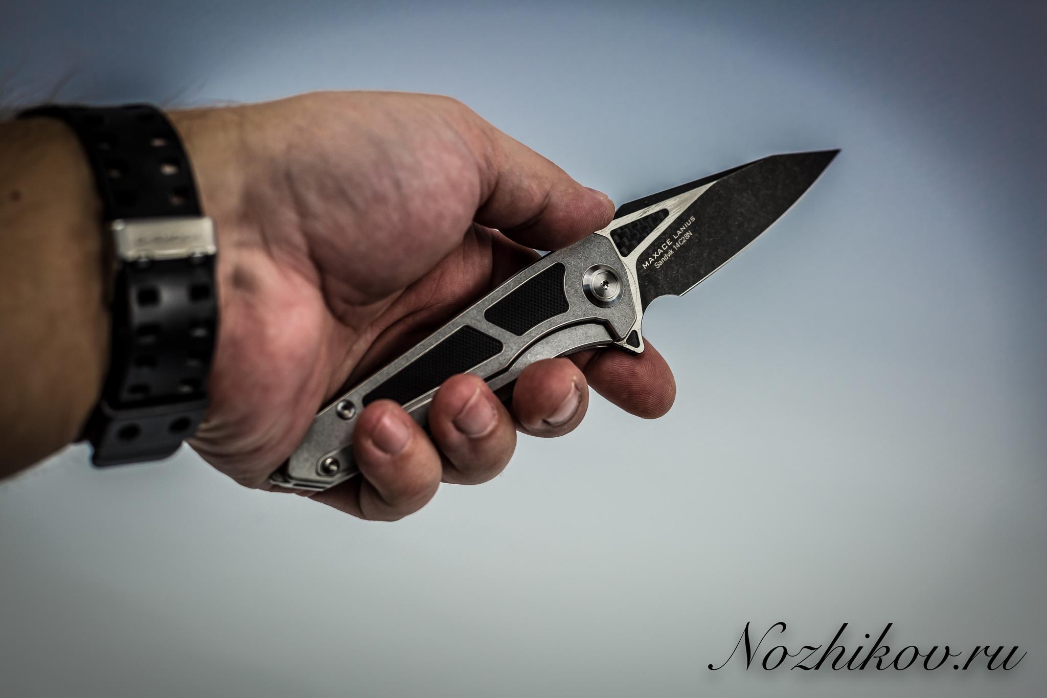 Складной нож Maxace Lanius Camo, сталь 14C28N