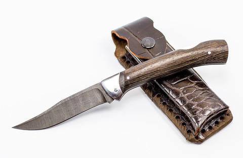 Складной нож из дамасской стали «Фрегат» - Nozhikov.ru