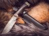 Нож из дамасской стали Бобер, мельхиор - Nozhikov.ru