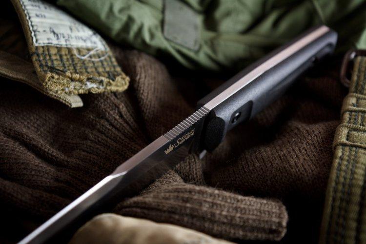 Фото 5 - Тактический нож Delta AUS-8 Satin+SW, Кизляр от Kizlyar Supreme