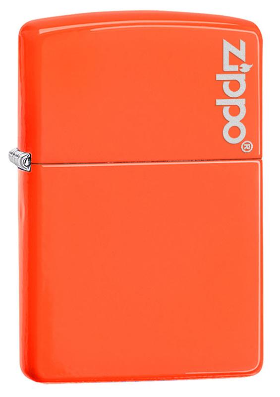 Зажигалка ZIPPO Classic с покрытием Neon Orange, латунь/сталь, оранжевая с фирменным логотипом, глянцевая, 36x12x56 ммПодарочные зажигалки<br>Зажигалка ZIPPO Classic с покрытием Neon Orange, латунь/сталь, оранжевая с фирменным логотипом, глянцевая, 36x12x56 мм<br>