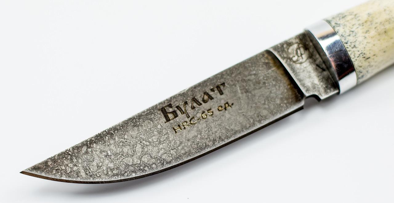 Фото 7 - Нож Тигр малютка, литой булат Баранова, рог лося от Ножи Фурсач