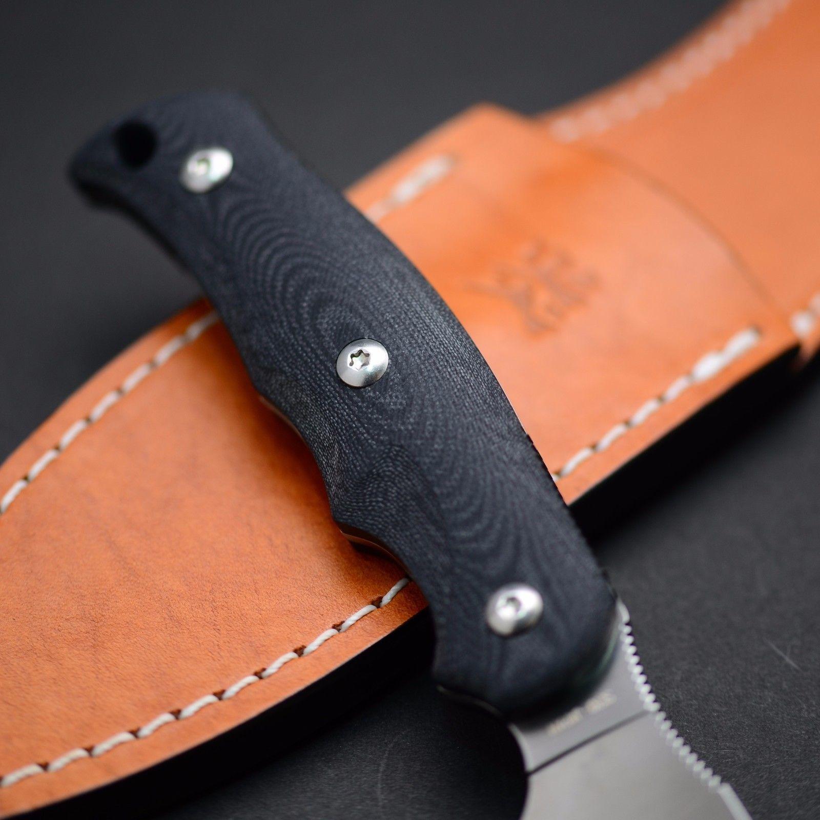 Фото 2 - Туристический нож G.Sakai, Camper En Fixed, ZDP-189, Black G-10