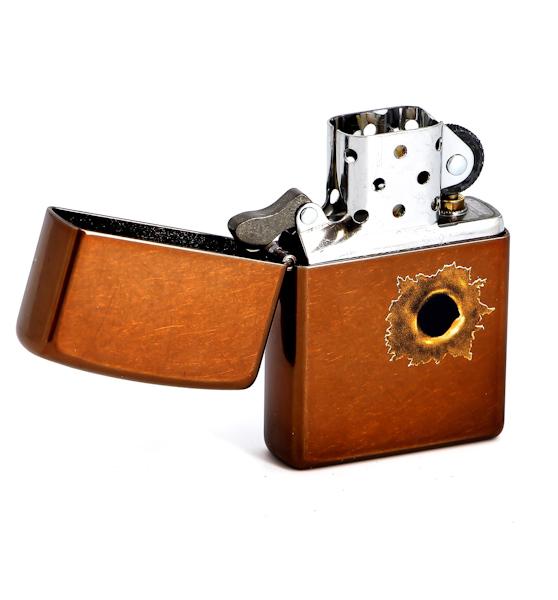 Фото 2 - Зажигалка ZIPPO Bullet с покрытием Toffee™, латунь/сталь, светло-коричневая, матовая, 36x12x56 мм
