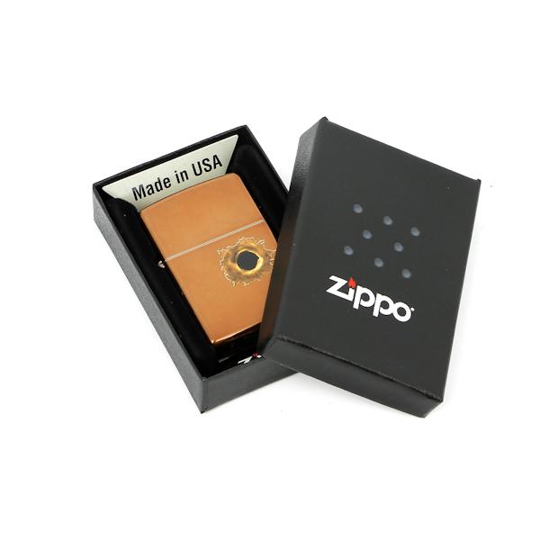 Фото 3 - Зажигалка ZIPPO Bullet с покрытием Toffee™, латунь/сталь, светло-коричневая, матовая, 36x12x56 мм