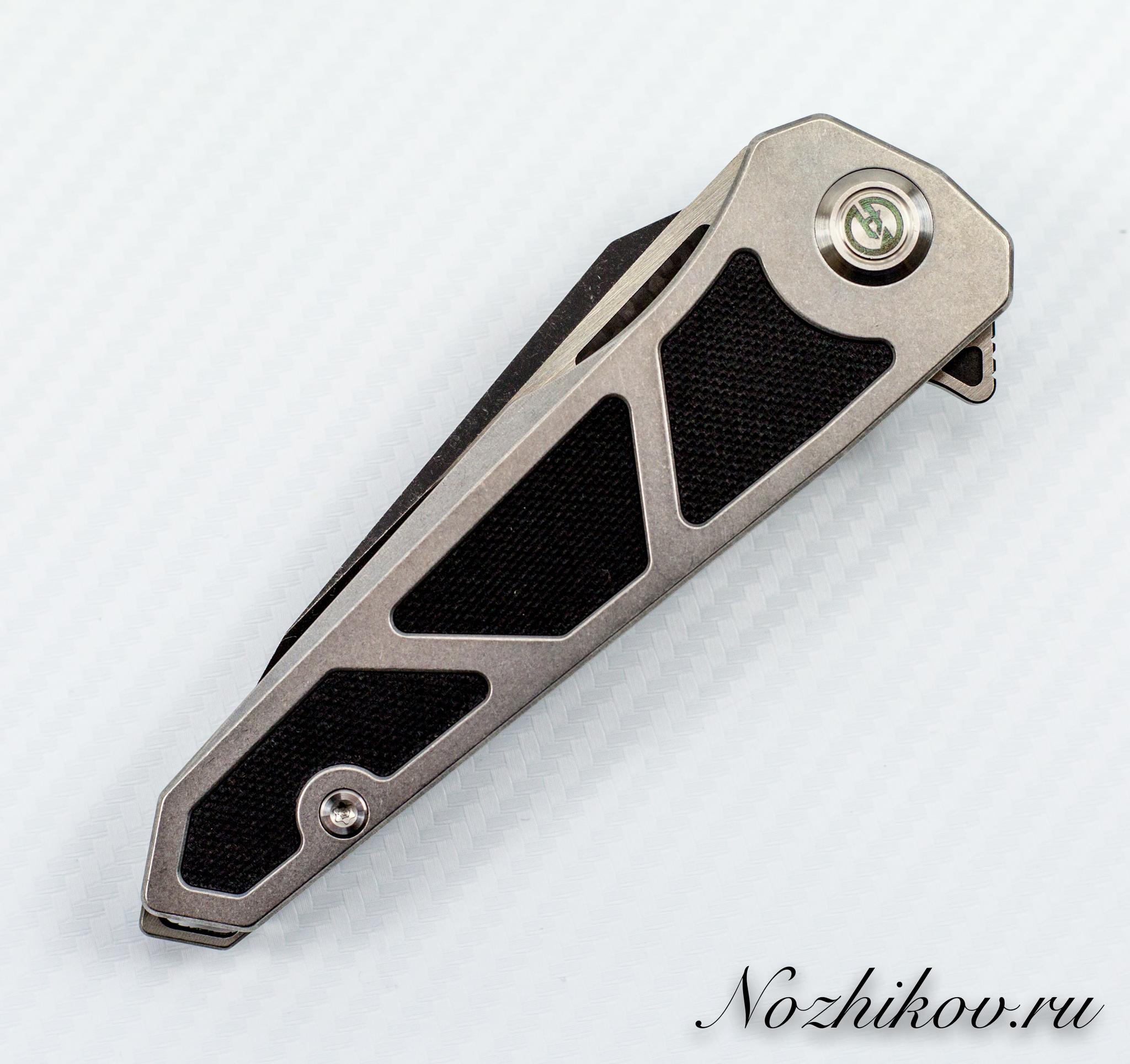 Складной нож Maxace Lanius Black, сталь 14C28N