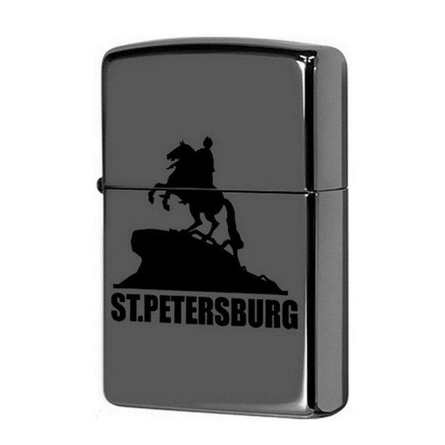 Зажигалка ZIPPO Медный всадник, латунь/сталь с покрытием Black Ice®, чёрная, глянцевая, 36x12x56 мм zippo slim black