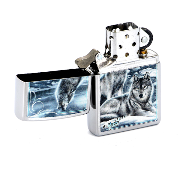 Фото 2 - Зажигалка ZIPPO Mazzi Brushed Chrome, латунь с никеле-хромовым покрыт., серебр., матовая, 36х56х12мм