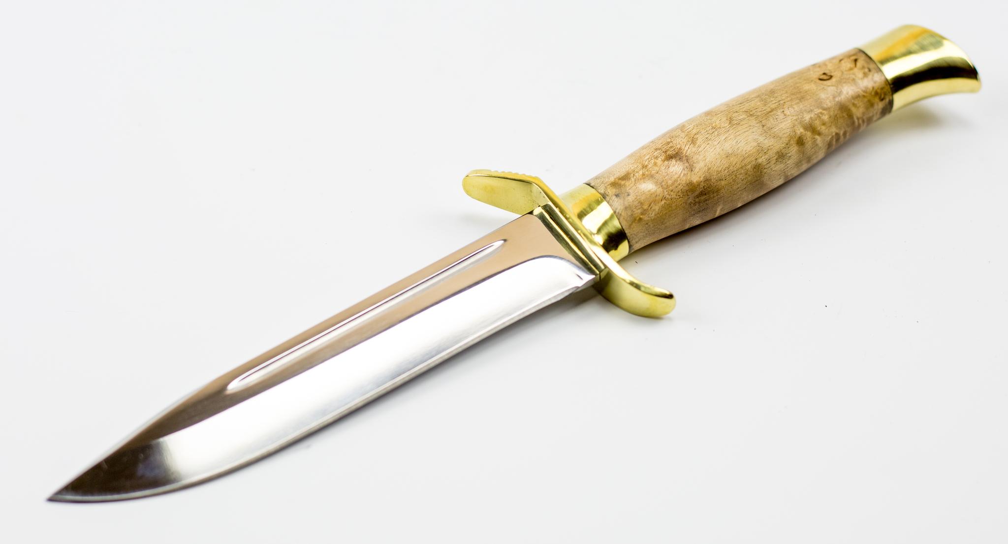Фото 2 - Нож НР-40, карельская береза от Мастерская Климентьева