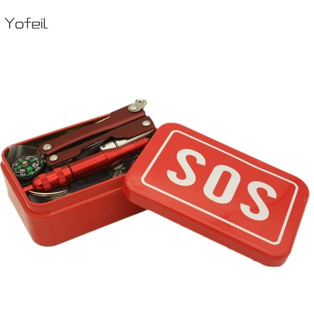 Комплект выживания SOSПодарочные наборы ножей<br>Комплектация -1 компас2 мультитул-кредитка3 огниво с кресалом4 мультитул с фонарем5 цепная пила6 свисток7 металлический чемоданчик<br>