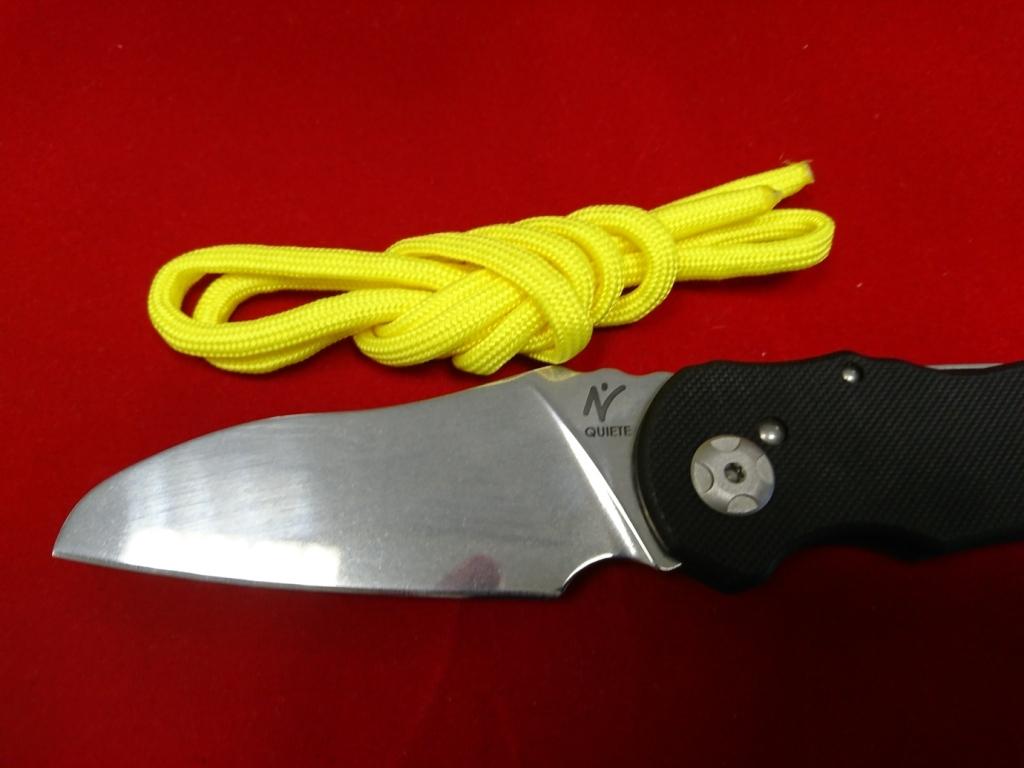 Фото 2 - Складной нож Fantoni, Nilte Quiete, FAN/QUIETEMirBk, сталь Sandvik 14C28N, рукоять стеклотекстолит G-10