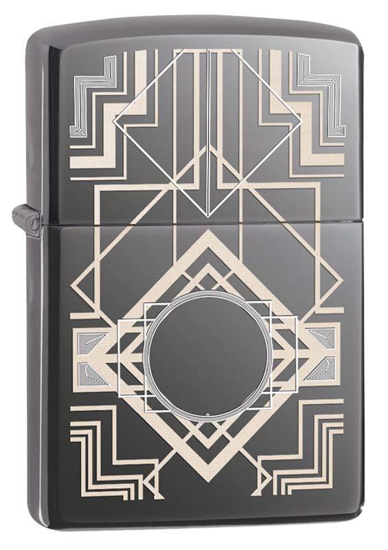 Зажигалка ZIPPO Classic с покрытием Black Ice ® часы зажигалка