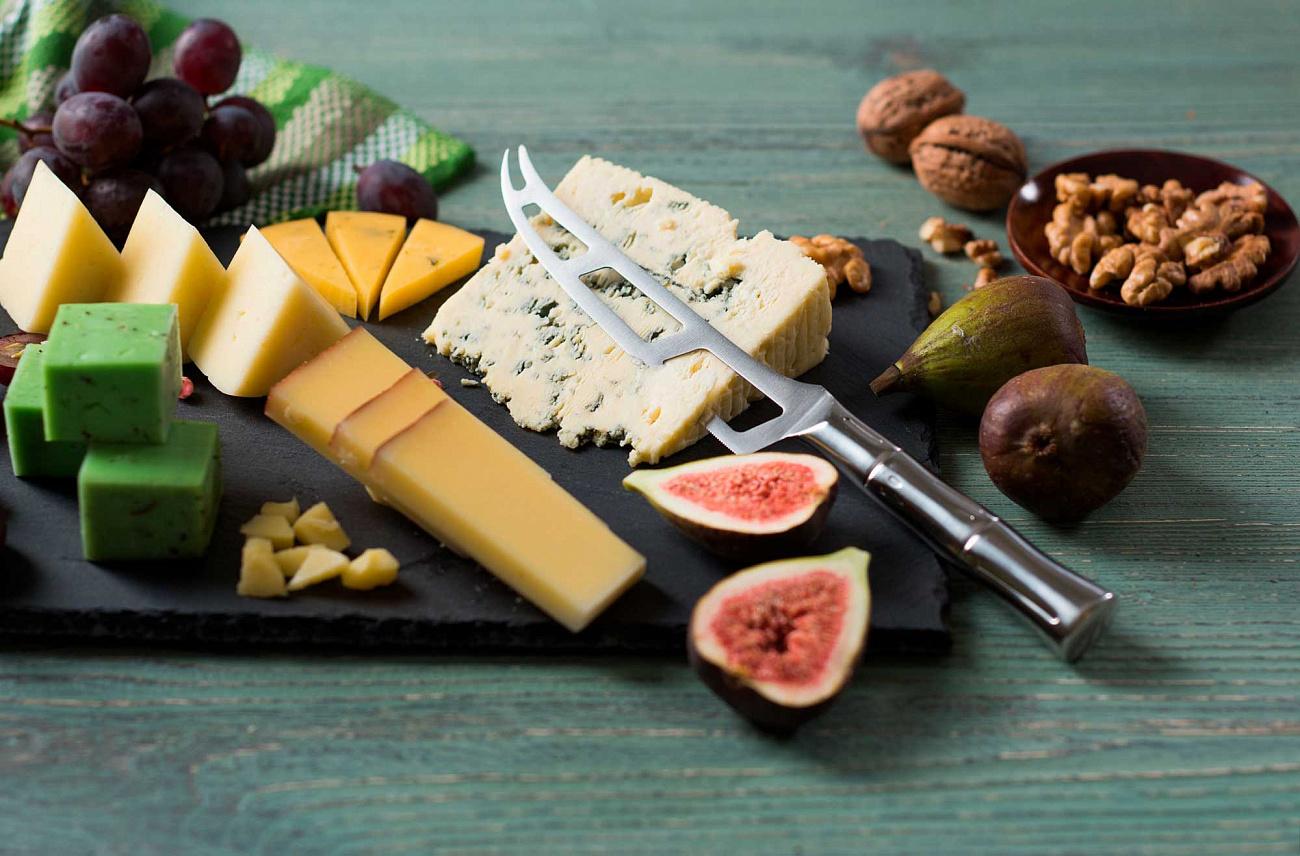 Фото 2 - Нож кухонный Samura Bamboo для сыра, сталь AUS-8