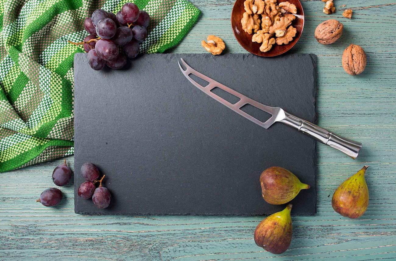 Фото 3 - Нож кухонный Samura Bamboo для сыра, сталь AUS-8