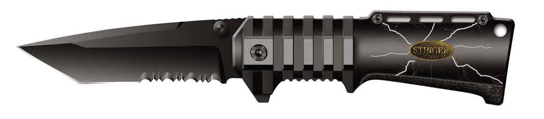 Фото - Нож складной Stinger SA-574BS, сталь 420, алюминий