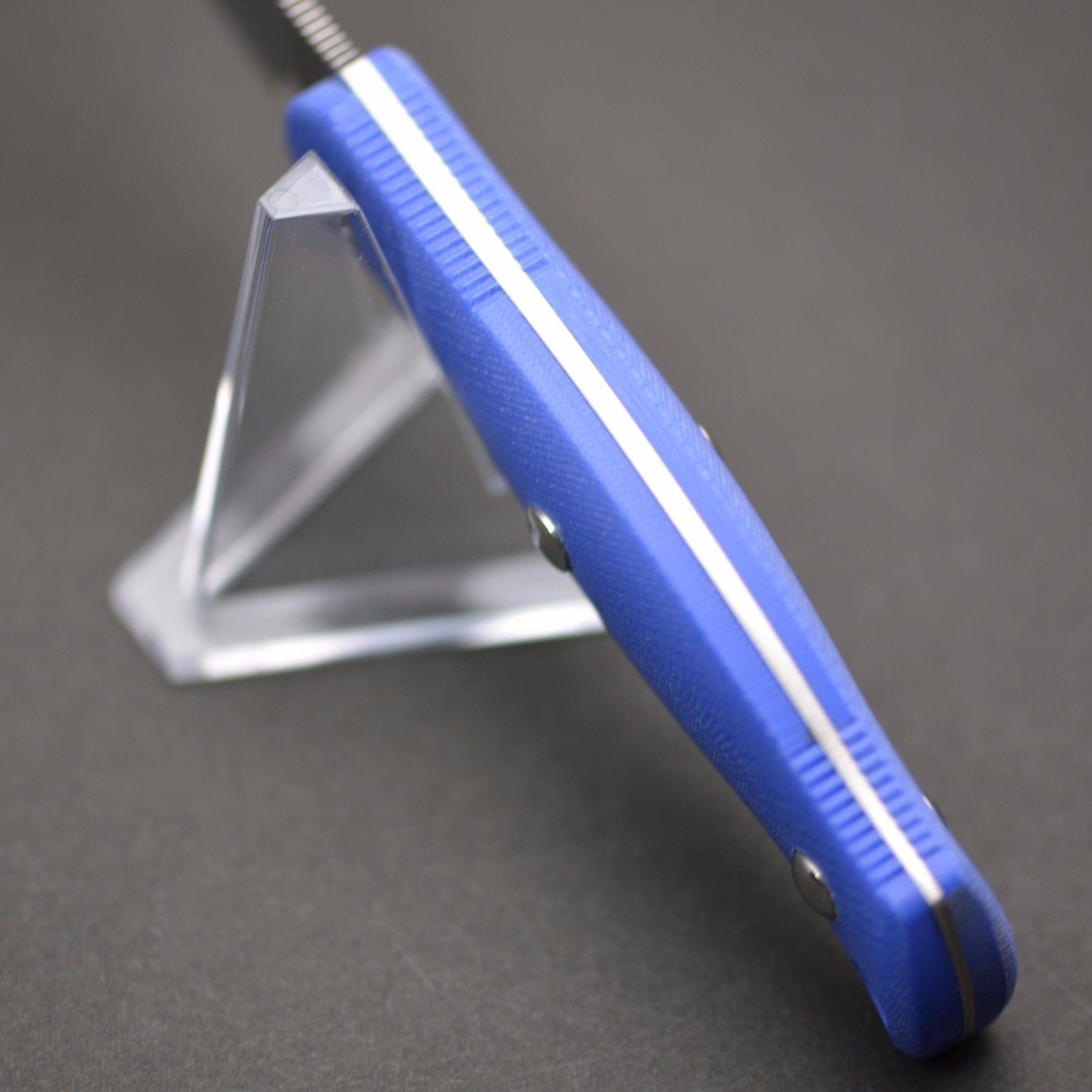 Фото 4 - Туристический нож G.Sakai, Camper En Fixed, ZDP-189, Blue G-10