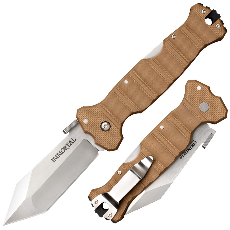 Складной нож Immortal Coyote Tan, сталь S35VN, рукоять G-10