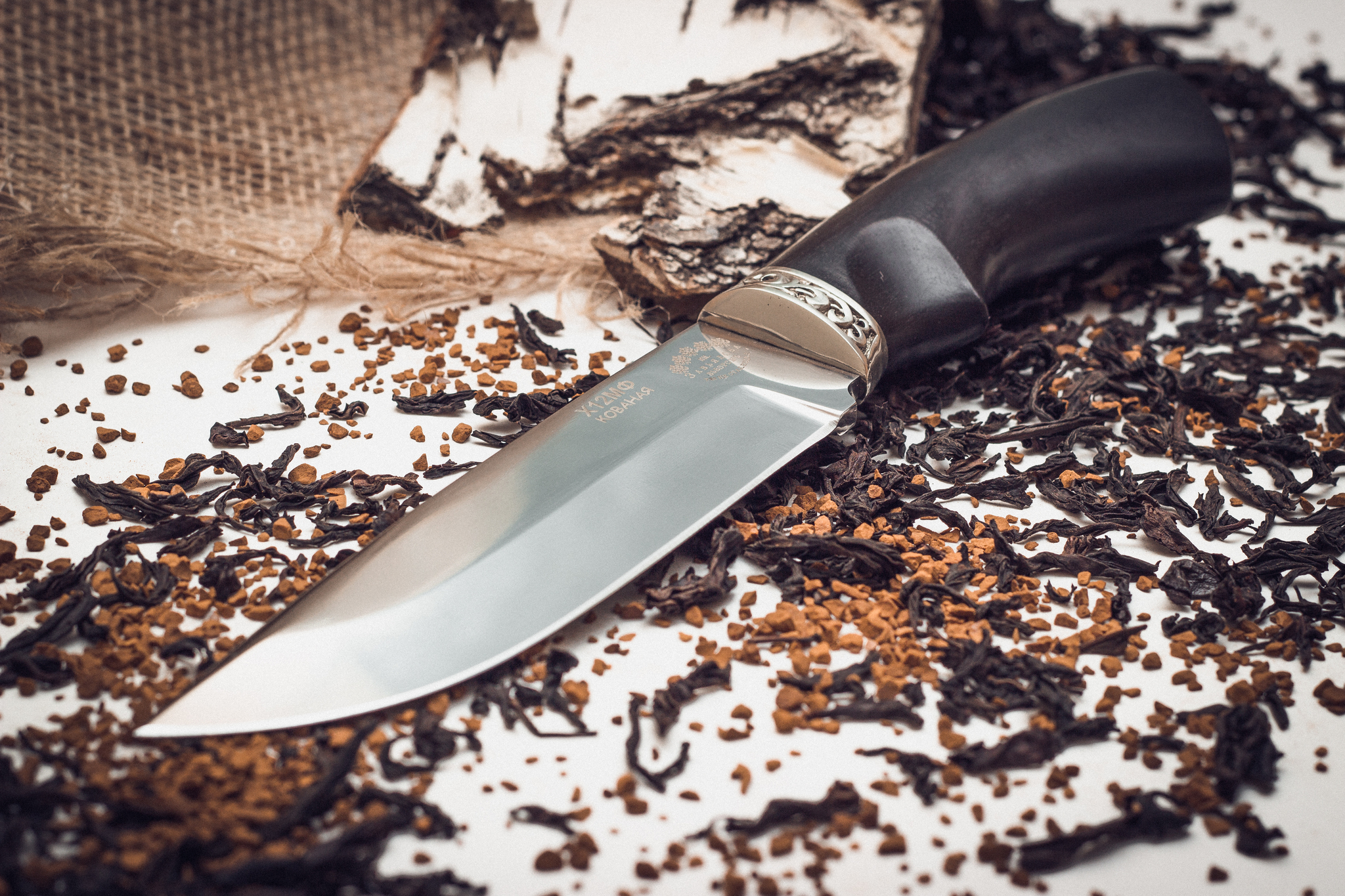 Фото 2 - Нож Курган черный граб от Кузница Завьялова