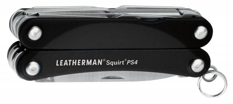 Мультитул Leatherman Squirt PS4 Black (SQUIRT PS4 BLACK) 9 функций
