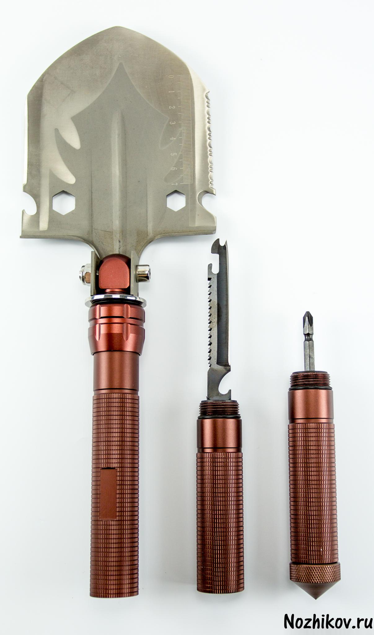 Многофункциональная лопата ТрудягаПодарочные наборы ножей<br>В комплекте -- лопата- чехол- огниво- крестовая отвертка- нож с пилой<br>