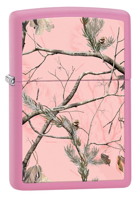 Зажигалка ZIPPO REALTREE APC™ с покрытием Pink Matte, латунь/сталь, розовая, матовая, 36x12x56 ммВоенному<br>Зажигалка ZIPPO REALTREE APC™ с покрытием Pink Matte, латунь/сталь, розовая, матовая, 36x12x56 мм<br>