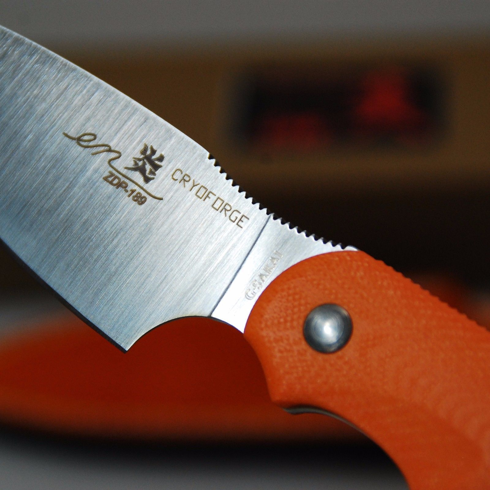 Фото 4 - Туристический нож G.Sakai, Camper En Fixed, ZDP-189, Vermilion G-10