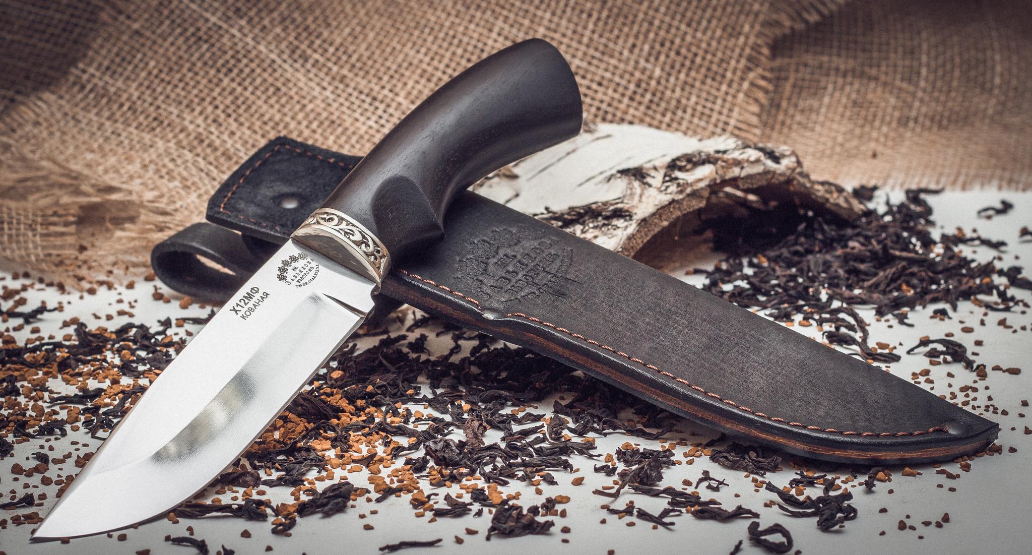 Нож Курган черный граб