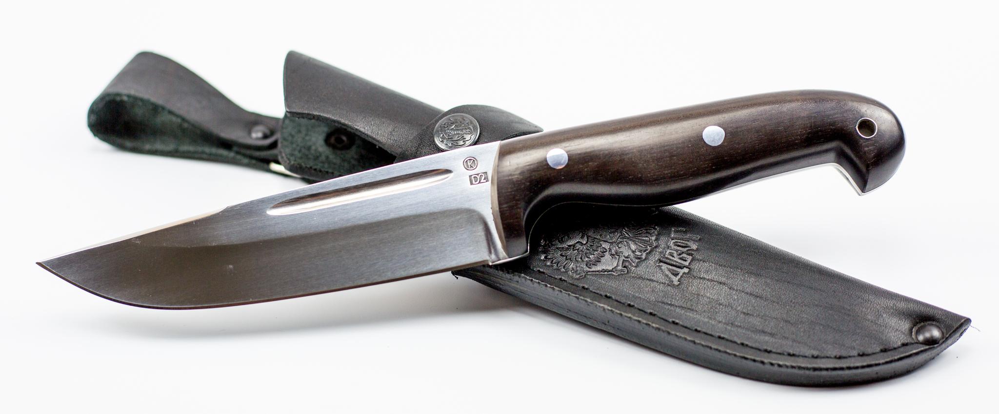 Фото 5 - Нож цельнометаллический Сайга, сталь D2, рукоять граб от Ножи Крутова
