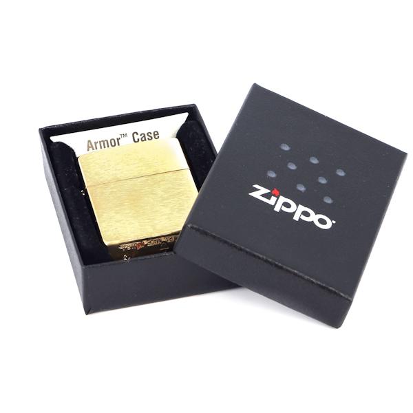 Фото 3 - Зажигалка ZIPPO Armor™, латунь с покрытием Brushed Brass, золотистый, матовая, 36х56х12 мм