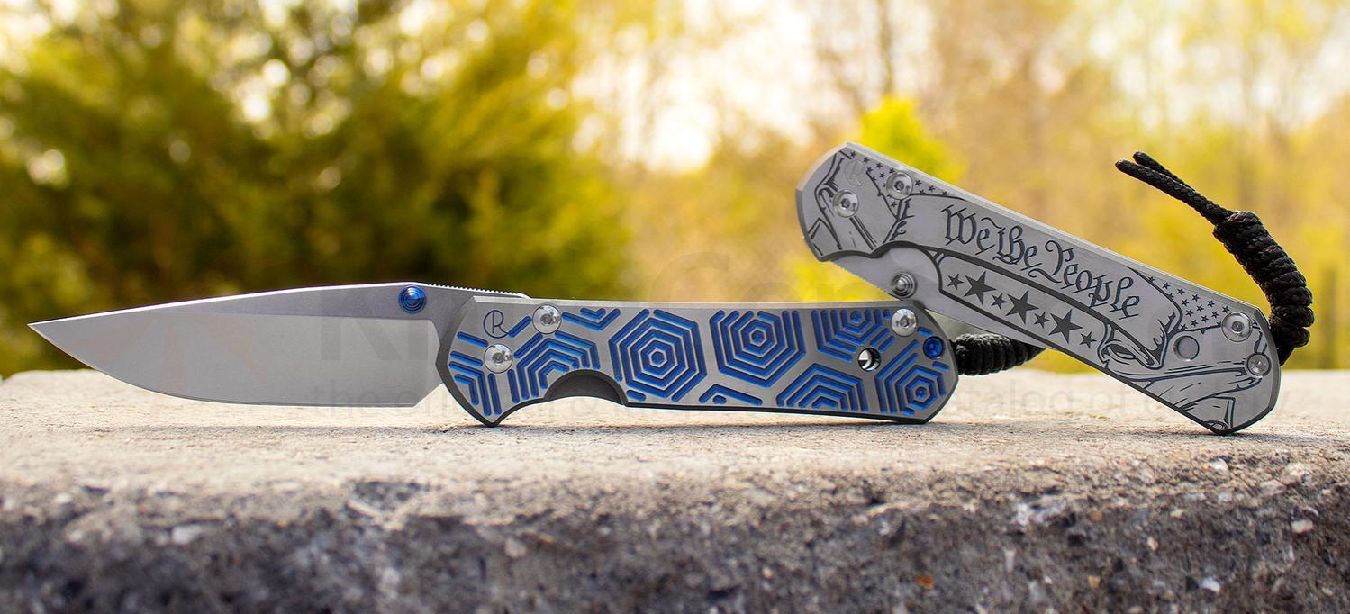 Нож складной Chris Reeve Large Sebenza 21 Blue Hex CGG Folding Knife