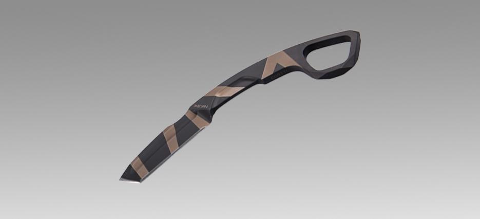 Фото 2 - Нож с фиксированным клинком Extrema Ratio N.K.3 K Karambit, Desert Warfare - Laser Engraving, сталь Bhler N690, цельнометаллический