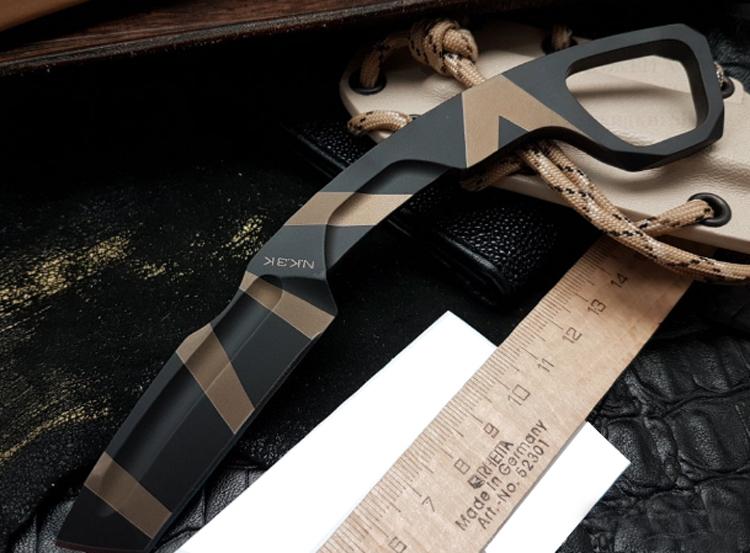 Фото 3 - Нож с фиксированным клинком Extrema Ratio N.K.3 K Karambit, Desert Warfare - Laser Engraving, сталь Bhler N690, цельнометаллический