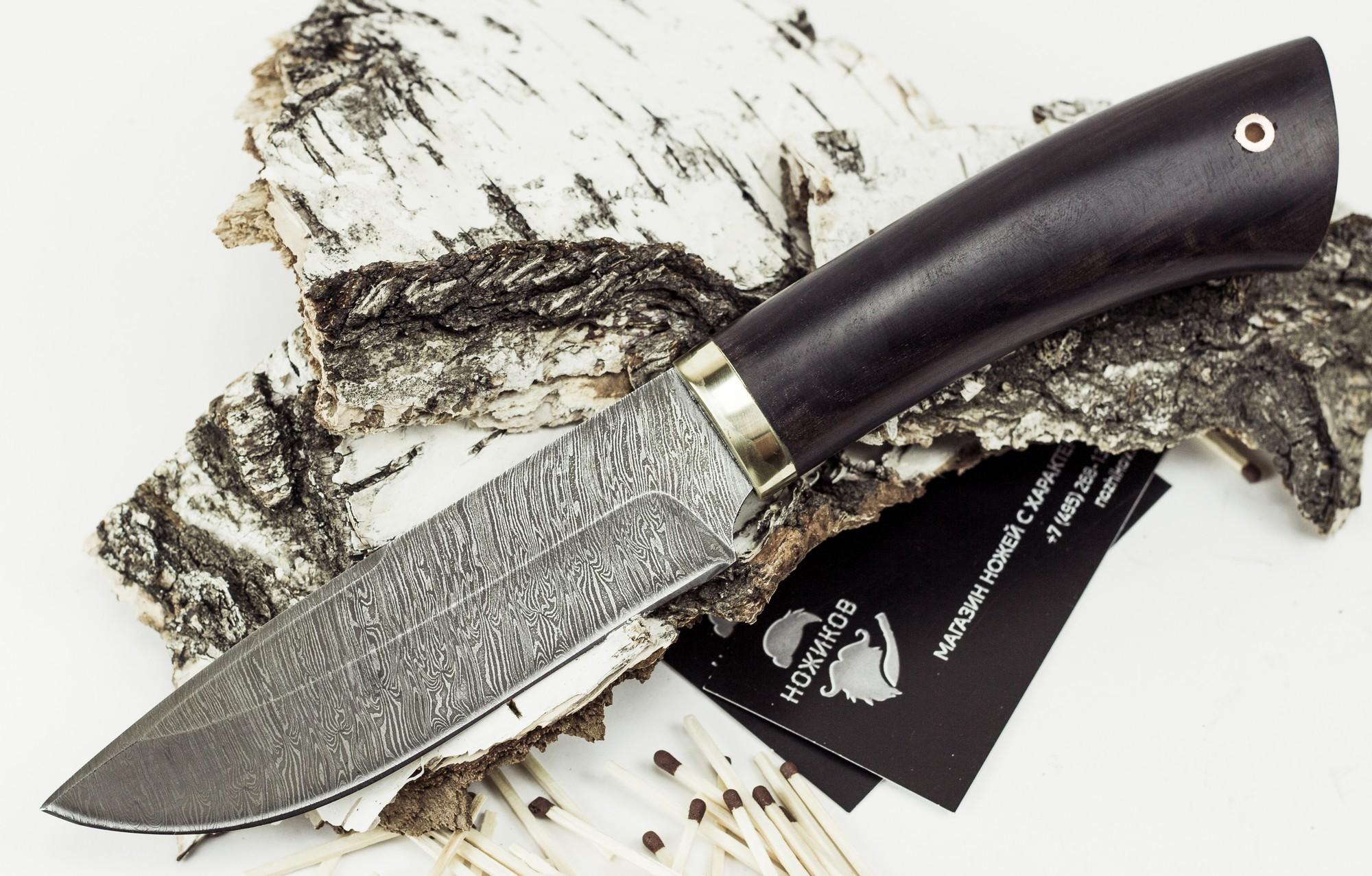 Нож Старатель, дамасская стальНожи Ворсма<br>Нож Старатель, дамасская сталь<br>