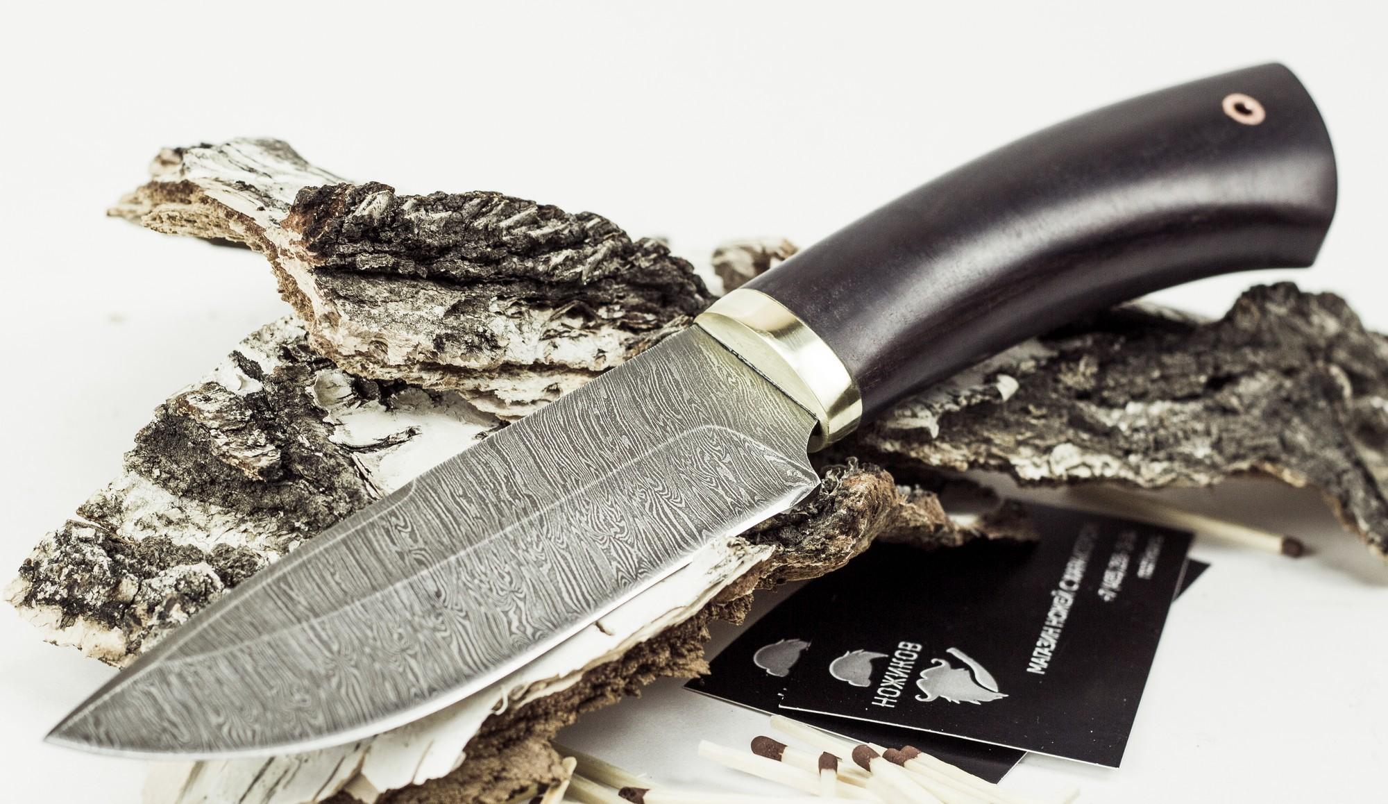 Фото 2 - Нож Старатель, дамасская сталь от Промтехснаб