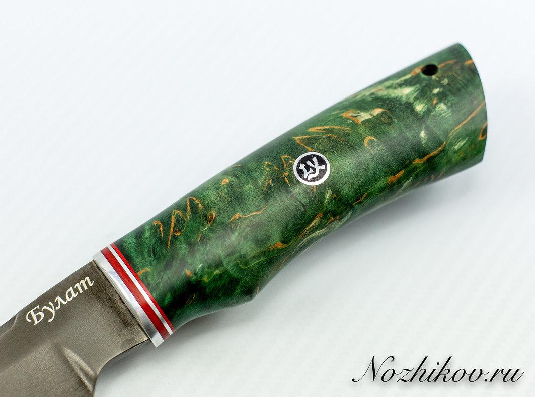 Фото 3 - Нож Тайга булат, стабилизированная карельская берёза