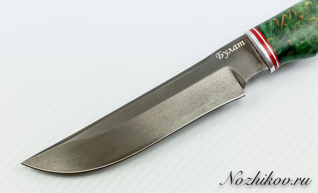 Фото 2 - Нож Тайга булат, стабилизированная карельская берёза
