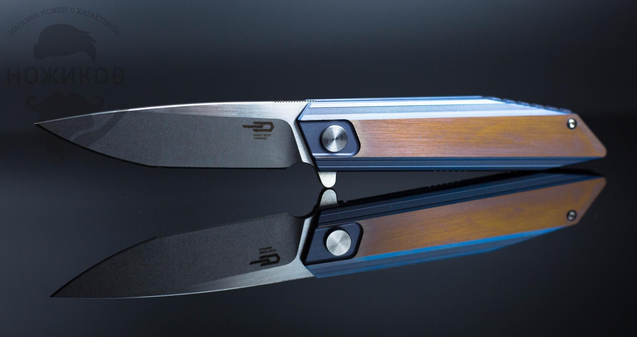 Фото 2 - Складной нож Bestech Knives Shogun BT1701D, сталь CPM-S35VN, рукоять титан