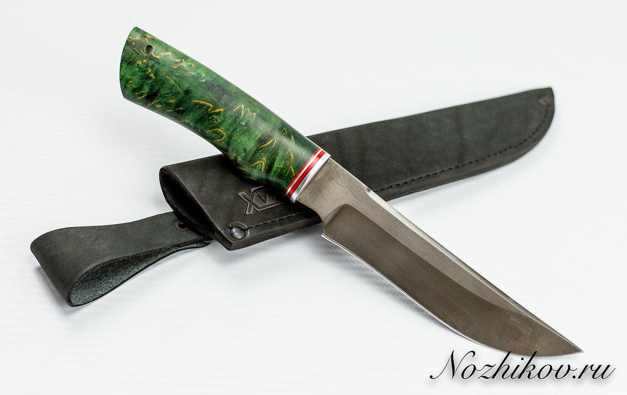 Фото 5 - Нож Тайга булат, стабилизированная карельская берёза
