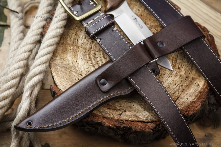 Фото 3 - Туристический нож Corsair AUS-8 Satin+SW, Kizlyar Supreme, орех