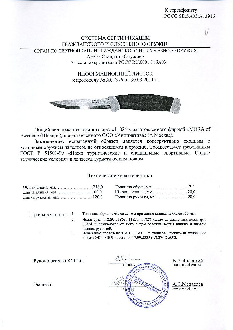 Нож Morakniv Companion F Rescue, нержавеющая сталь, Блистер