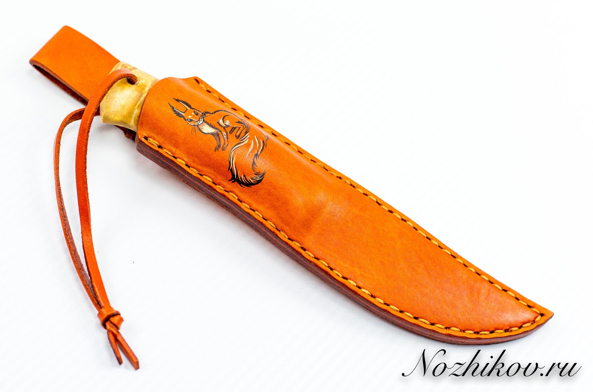 Нож Барбус, сталь M390, карельская береза цена