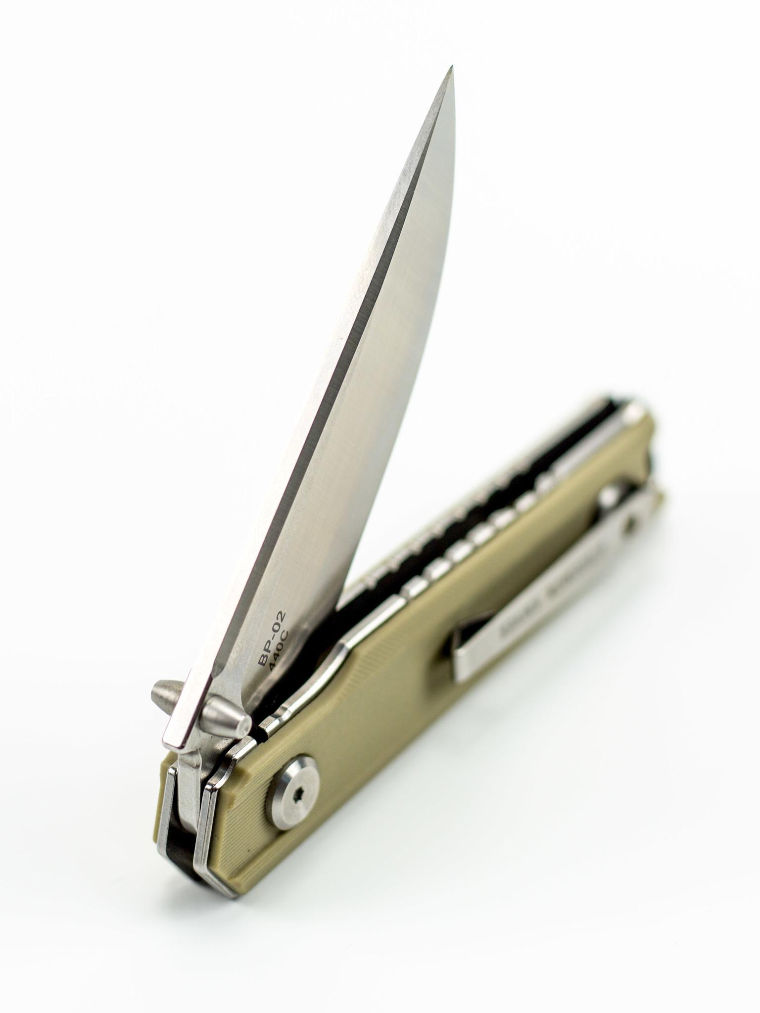 Складной нож Stedemon ZKC-BP02, бежевый