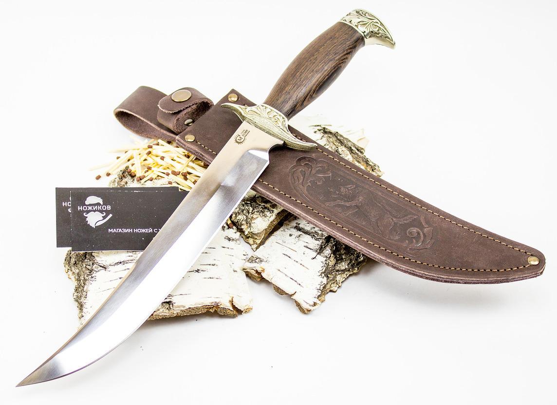 Нож Шайтан, кованая сталь Х12МФНожи Ворсма<br>Большие лезвия делают большую работу – это про нож «Шайтан». Его внушительный размер позволяет справляться с самыми разными трудностями, а великолепный дизайн привлекает внимание ценителей. Воспользуйтесь шансом заказать кованый нож из стали Х12МФ «Шайтан».<br>