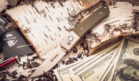 Складной нож Ganzo G7361, зеленый - Nozhikov.ru
