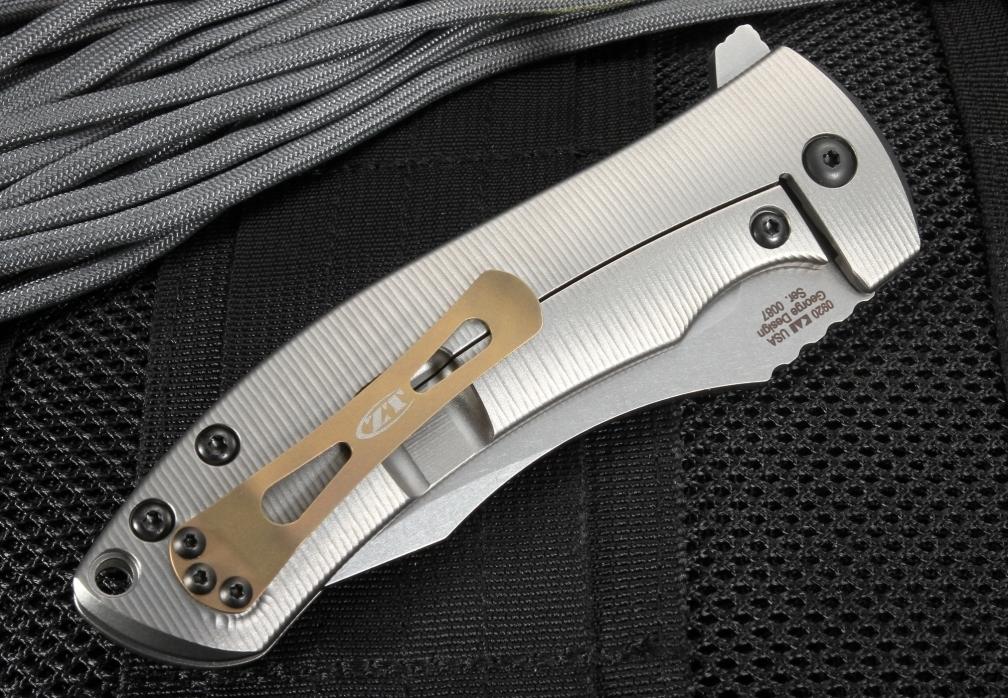 Фото 2 - Нож складной Les ZT 0920, сталь CPM® 20CV, рукоять титан от Zero Tolerance